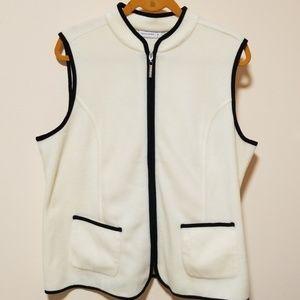 Susan Graver fleece vest size L A239803